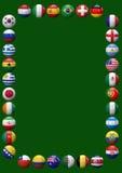 Marco de los equipos de fútbol del mundo Imagenes de archivo