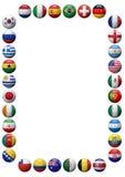 Marco de los equipos de fútbol del mundo Foto de archivo libre de regalías