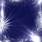 Marco de los fuegos artificiales Foto de archivo libre de regalías