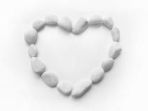 Marco de los guijarros del corazón Fotos de archivo