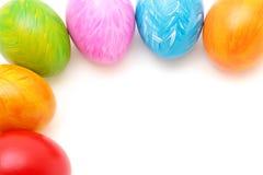 Marco de los huevos de Pascua Fotos de archivo libres de regalías