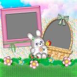 Marco de los niños con un conejo. Fotos de archivo libres de regalías