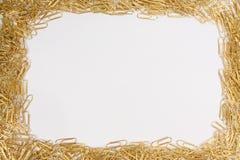 Marco de los Paperclips Foto de archivo libre de regalías