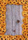 Marco de los pretzeles Fotografía de archivo libre de regalías