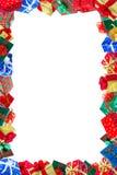 Marco de los regalos de Navidad Imágenes de archivo libres de regalías