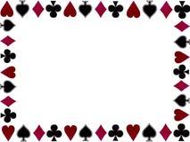 Marco de los símbolos de las tarjetas que juegan Fotografía de archivo