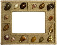 Marco de los Seashells Imagenes de archivo