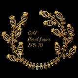 Marco de lujo con la línea brillante flor del oro Libre Illustration