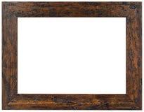 Viejo recorte del marco de madera de Brown Imagenes de archivo