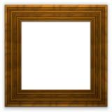 Marco de madera ancho cuadrado Imágenes de archivo libres de regalías