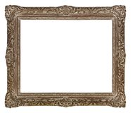 Marco de madera antiguo para las fotos y el arte imagen de archivo libre de regalías