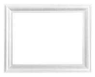Marco de madera blanco del marco Foto de archivo libre de regalías