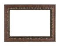 Marco de madera clásico aislado en el fondo blanco Foto de archivo libre de regalías