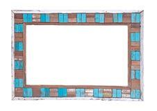 Marco de madera coloreado Imagen de archivo