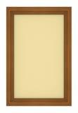 Marco de madera con el fondo amarillento Fotos de archivo libres de regalías