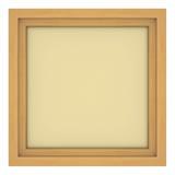 Marco de madera con el fondo amarillento Fotografía de archivo libre de regalías