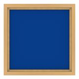 Marco de madera con el fondo azul Imagenes de archivo