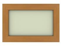 Marco de madera con el fondo gris Imágenes de archivo libres de regalías