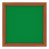 Marco de madera con el fondo verde Foto de archivo libre de regalías