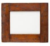 Marco de madera con la lona Imágenes de archivo libres de regalías