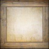 Marco de madera con la lona Fotos de archivo libres de regalías