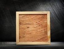 Marco de madera cuadrado Fotos de archivo libres de regalías
