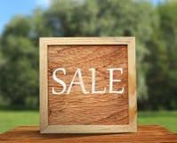 Marco de madera cuadrado Foto de archivo libre de regalías