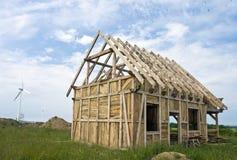 Marco de madera de la casa Fotos de archivo libres de regalías