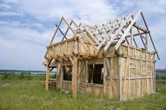 Marco de madera de la casa Foto de archivo libre de regalías