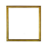 Marco de madera de la foto del color del oro del vintage Fotos de archivo