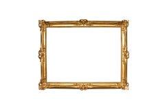 Marco de madera de la pintura del oro Imagenes de archivo
