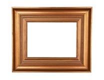 Marco de madera de la pintura del oro Fotografía de archivo