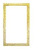 Marco de madera de oro antiguo aislado foto de archivo libre de regalías