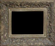 Marco de madera de oro vacío decorativo Fotos de archivo libres de regalías