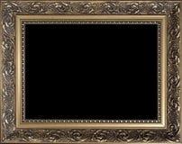 Marco de madera de oro vacío decorativo Imágenes de archivo libres de regalías