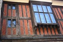 Marco de madera de Tudor del ladrillo - torre de Londres Fotos de archivo