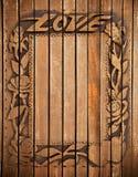 Marco de madera del amor Imagen de archivo