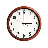 Marco de madera del grano del reloj Imagen de archivo libre de regalías