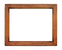 Marco de madera del llano plano Fotografía de archivo libre de regalías