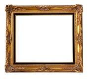 Marco de madera del oro Fotografía de archivo libre de regalías
