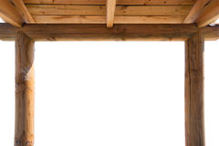 Marco de madera del quiosco Imagenes de archivo