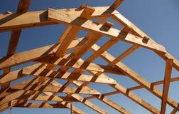 Marco de madera del tejado Fotos de archivo