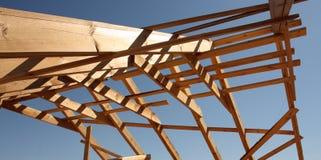 Marco de madera del tejado Fotografía de archivo