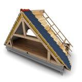 Marco de madera del tejado stock de ilustración