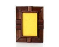 Marco de madera del vintage en el fondo blanco foto de archivo