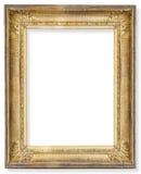 Marco de madera dorado Imagenes de archivo