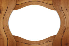 Marco de madera en blanco Foto de archivo libre de regalías