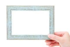 Marco de madera en blanco Fotografía de archivo libre de regalías