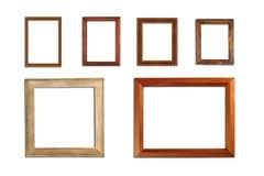 Marco de madera en un fondo blanco foto de archivo libre de regalías