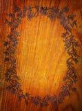 Marco de madera floral Imagen de archivo libre de regalías